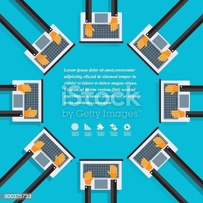 istock Modern business working concepts in flat design 500325733