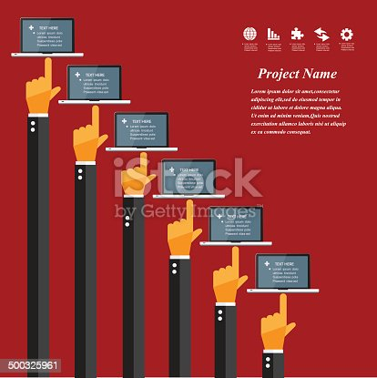 istock Modern business working concepts in flat design. 500325961