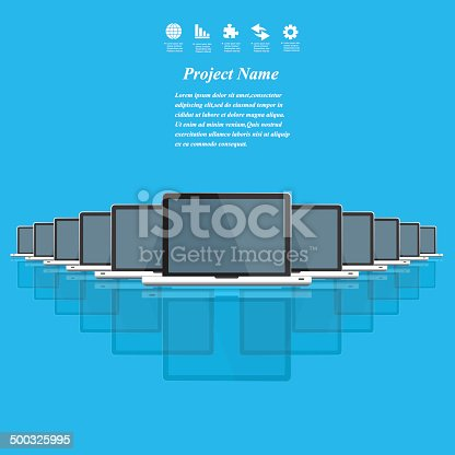 istock Modern business working concepts in flat design. 500325995