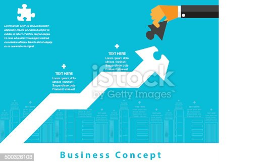 istock Modern business working concepts in flat design. 500326103