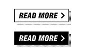 Modern buttons monochrome design. Black and white. Ready to use in your web page or mobile app design.