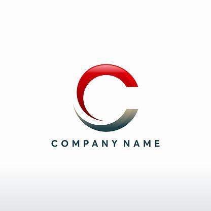 Modern C initial technology logo template, C letter logo symbol, Logo symbol icon