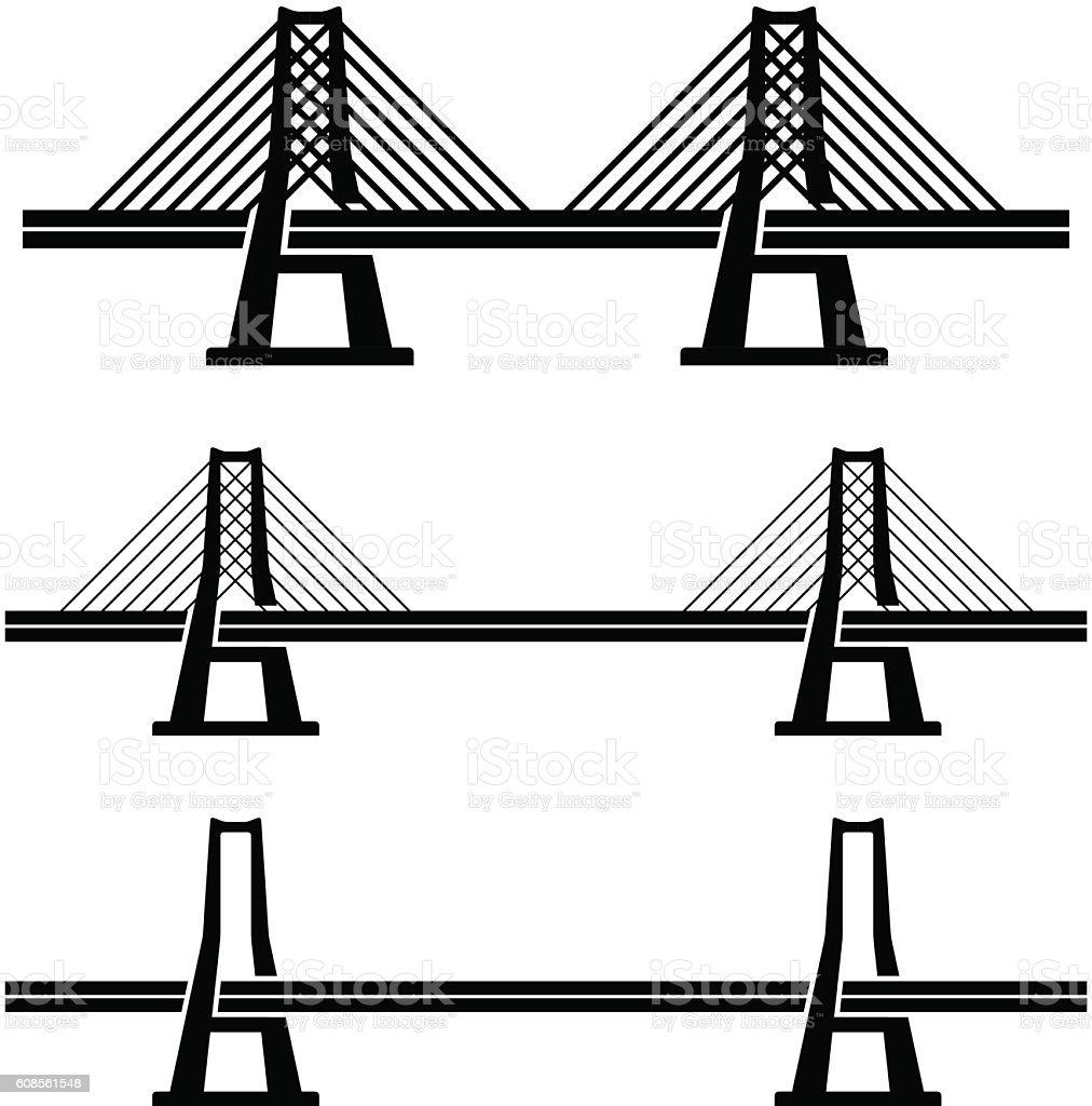 royalty free suspension bridge clip art  vector images  u0026 illustrations