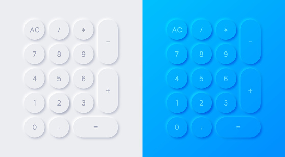 Modern Calculator Neumorphism Design