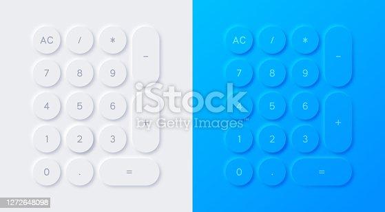 istock Modern Calculator Neumorphism Design 1272648098