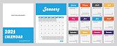 2021 Modern Calendar. Template to Apply Company's Logo & Website. Week Starts on Sunday.