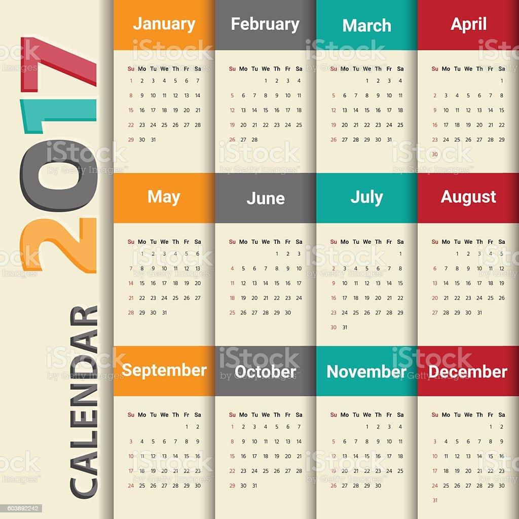 photo calendar template 2017