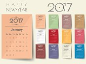 2017 Modern calendar template .Vector/illustration.