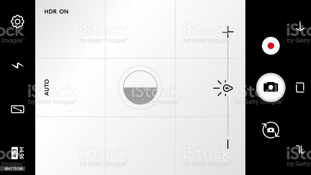Modern camera focusing screen with settings royalty-free modern camera focusing screen with settings stock vector art & more images of aperture