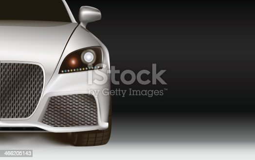 837409978istockphoto Modern Car. Dark background with copy space 466205143
