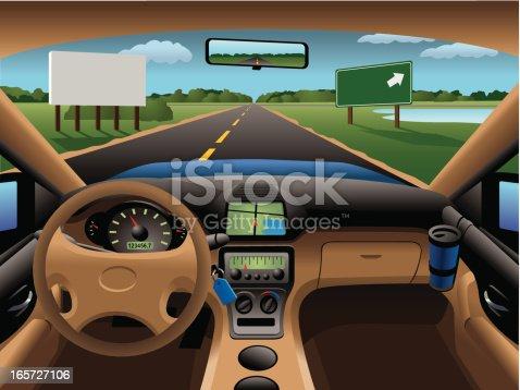 istock Modern Car Dashboard 165727106