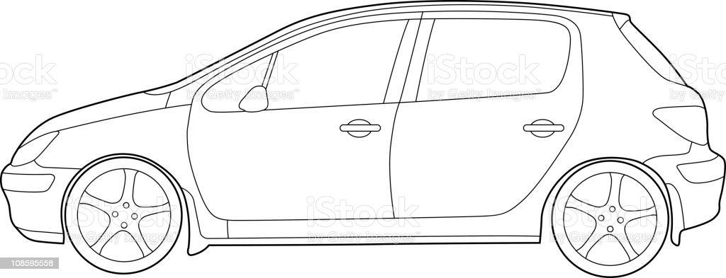 Modern Car Detailed royalty-free stock vector art