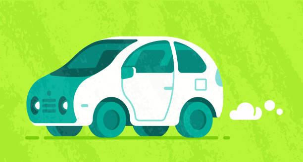 モダンな車 - 自動運転車点のイラスト素材/クリップアート素材/マンガ素材/アイコン素材