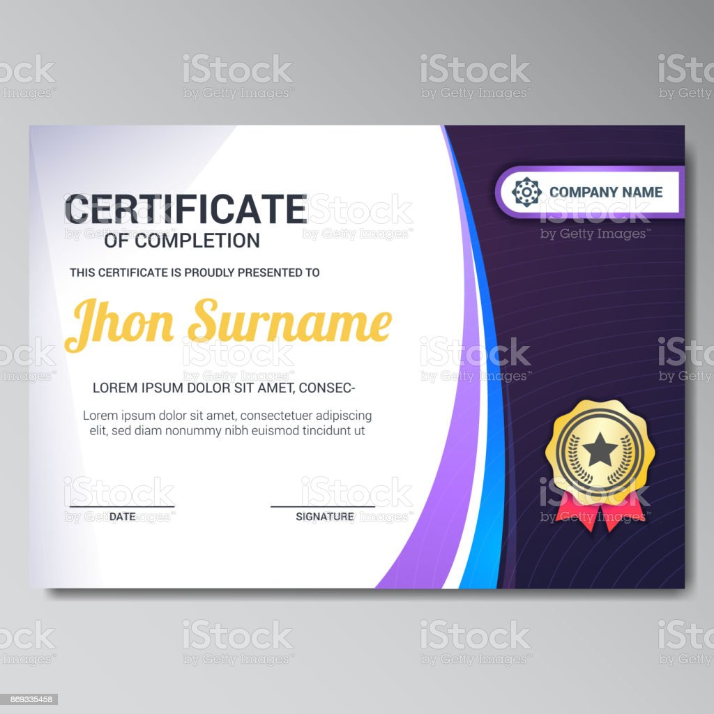 Modern Certificate Design Template Stock Vector Art More Images Of