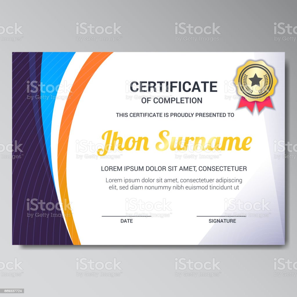 Modern Certificate Design Template Stock Vector Art More Images Of Abstract 869337724 Istock