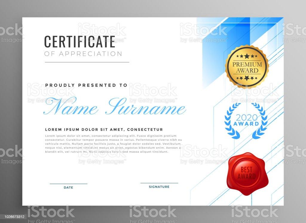 modern certificate of appreciation template design