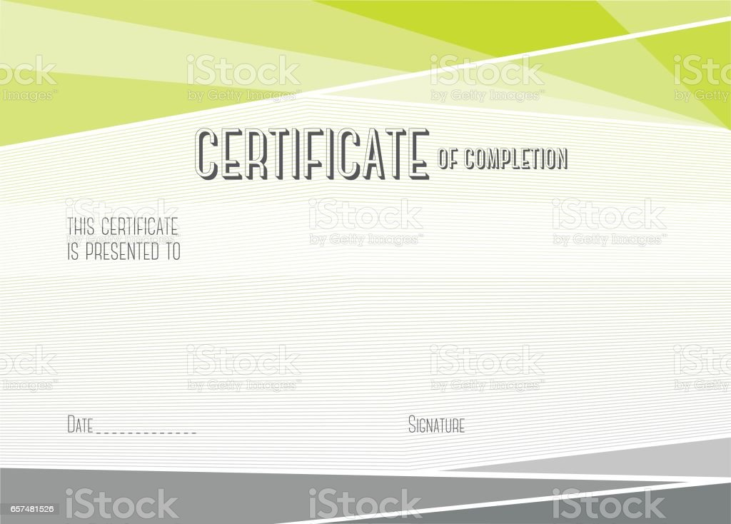 Modern certificate of completion vector template stock vector art modern certificate of completion vector template royalty free stock vector art yelopaper Image collections