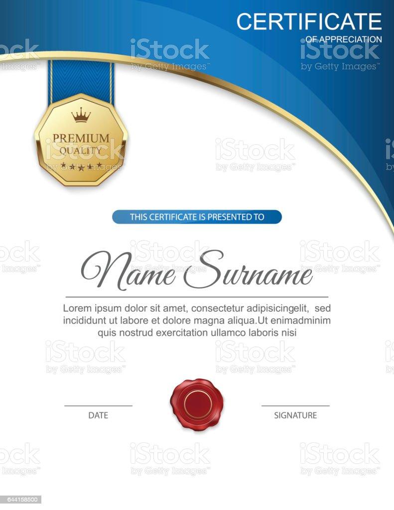 Modern certificate template design vector 644158500 modern certificate template design vector yelopaper Gallery