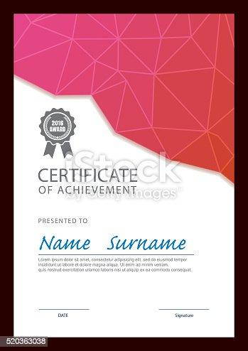 Moderne Zertifikat Vorlage Diplom Layout Stock Vektor Art und mehr ...