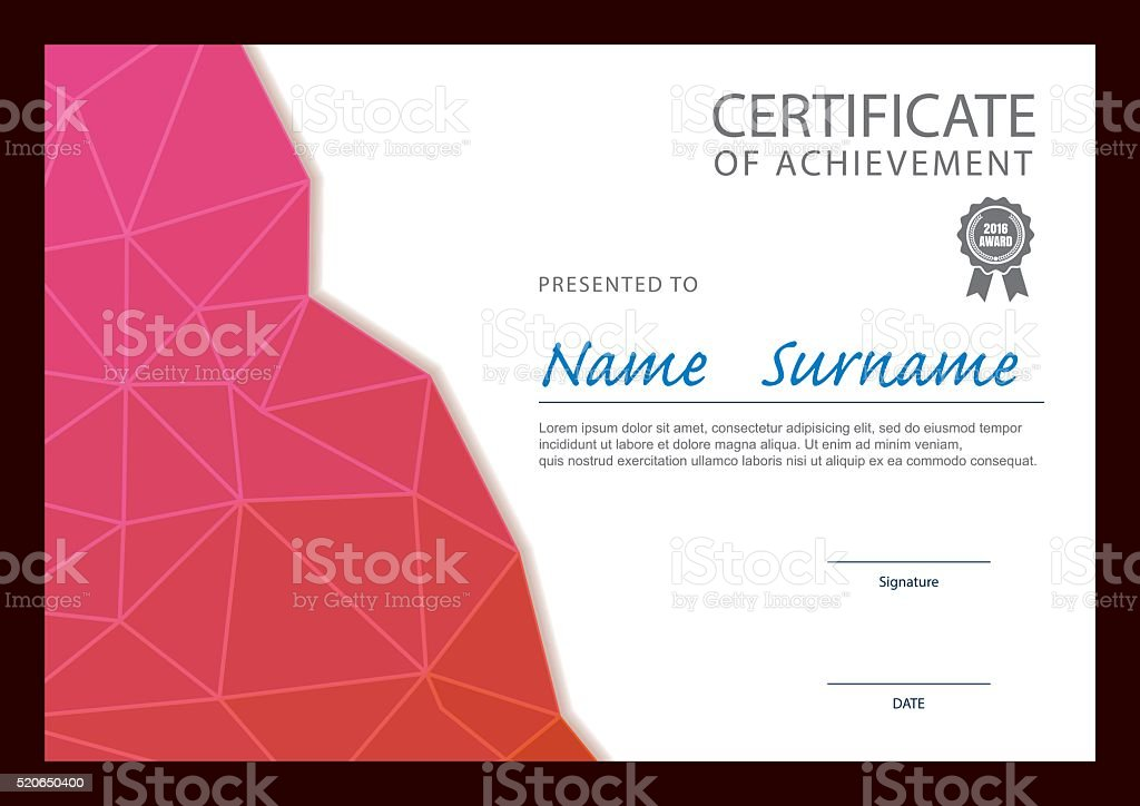 Modern Certificate Template Diploma Layout Stock Vector Art More