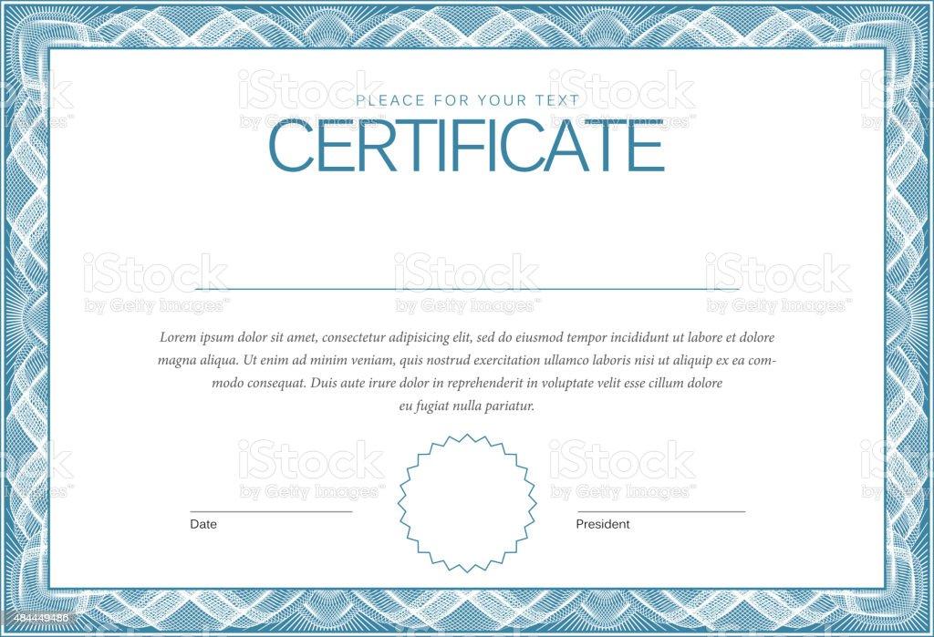 Modern Certificate. Template diplomas, currency. Vector vector art illustration