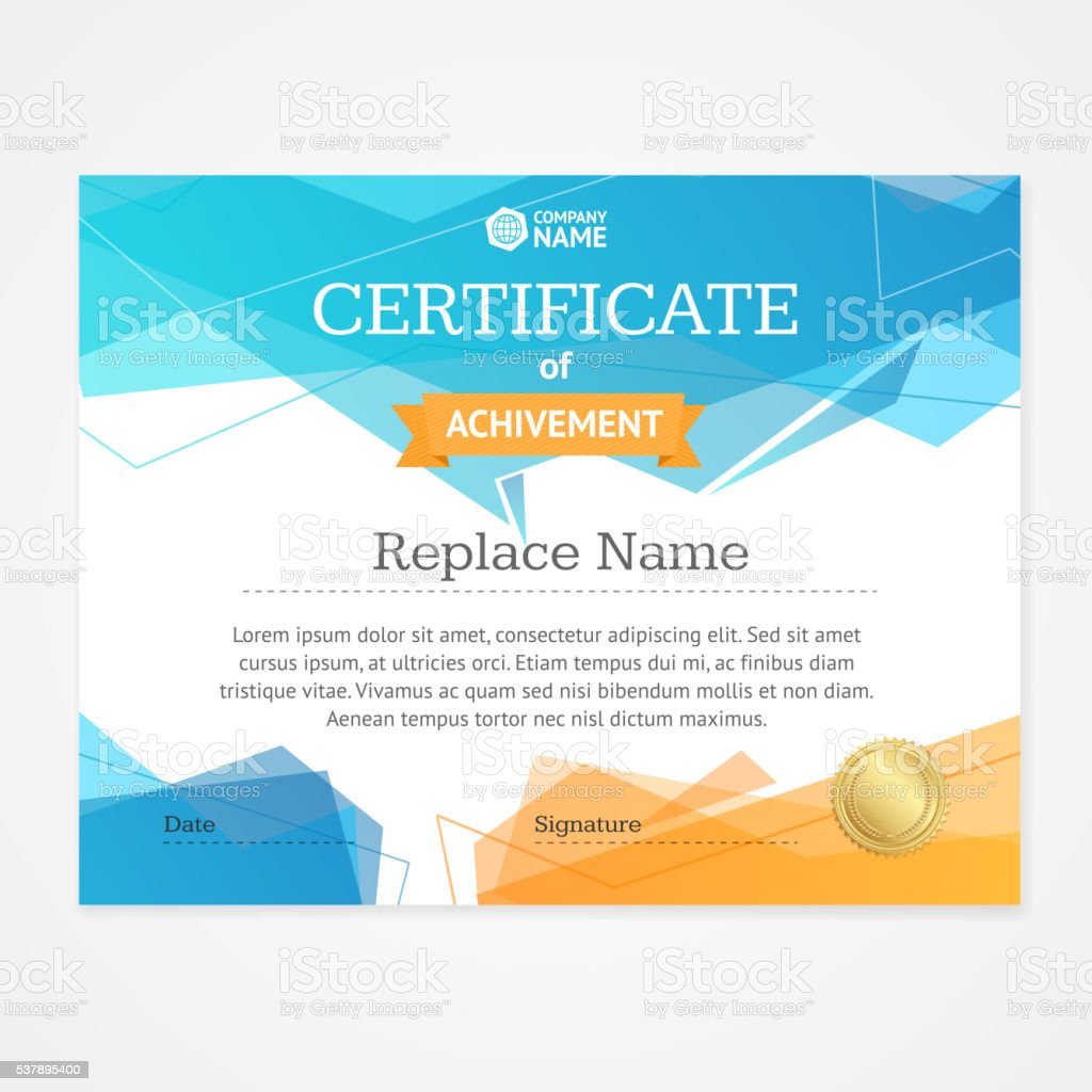 Modern certificate template horizontal vector stock vector art modern certificate template horizontal vector royalty free modern certificate template horizontal vector stock vector yelopaper Image collections