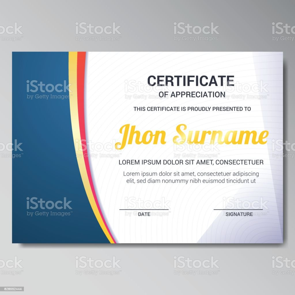 Modern Certificate Template Stock Vector Art More Images Of