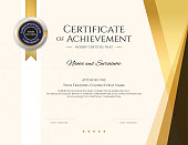 Modern certificate template with elegant border frame, Diploma design for graduation or completion