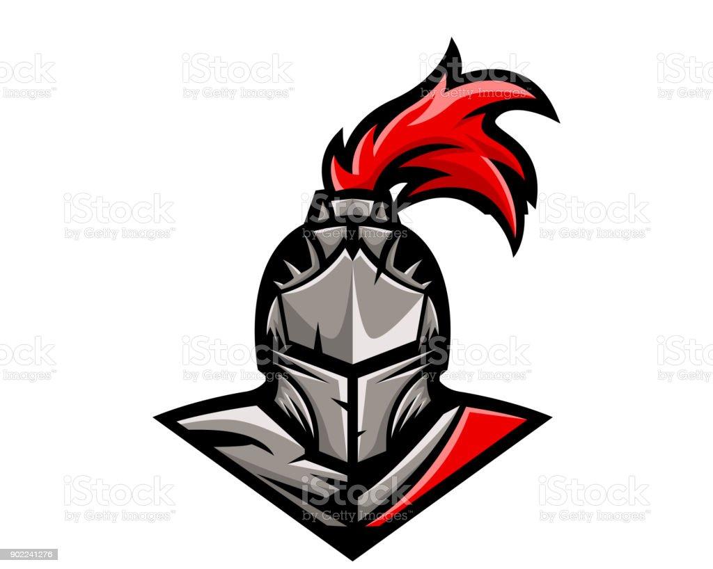 現代のカリスマ騎士戦士キャラ イラスト アイコンのベクターアート素材