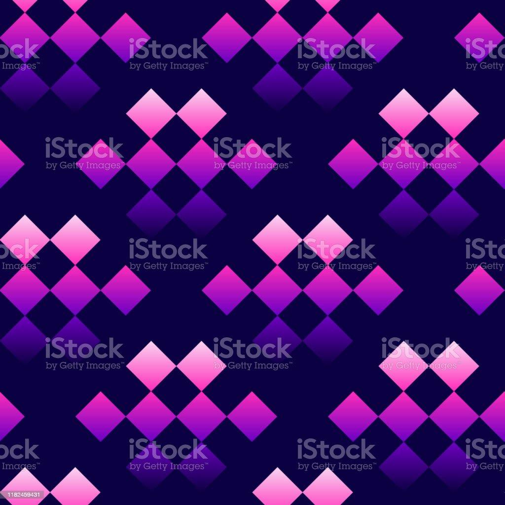 モダンなチェッカーシームレスパターン幾何学的なチェスの正方形の装飾