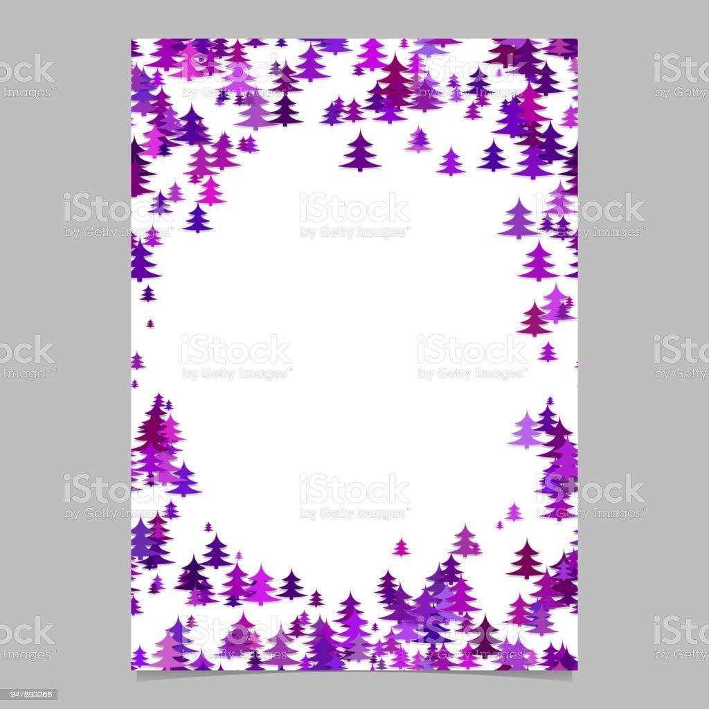 Moderne Weihnachten Design Briefpapiervorlage Leere Winter Vektor