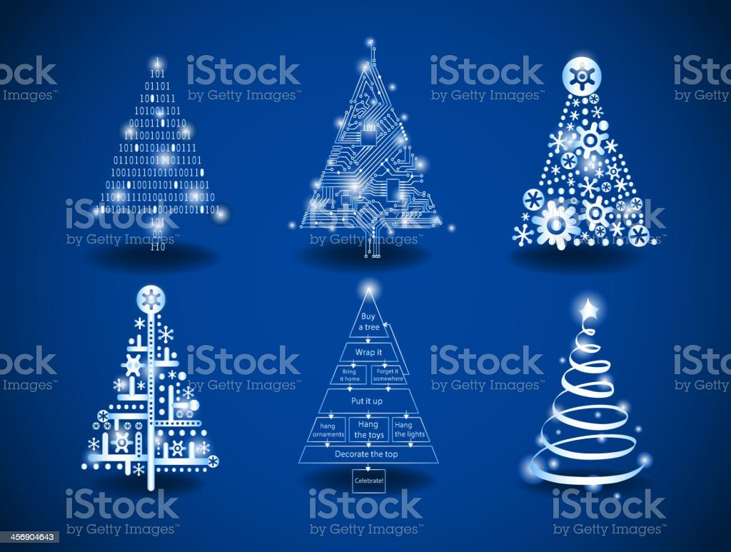 Modern Christmas Trees Stock Illustration Download Image Now Istock