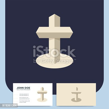 Modern Church 3d Cross Symbol Christian Symbol For Baptist Or