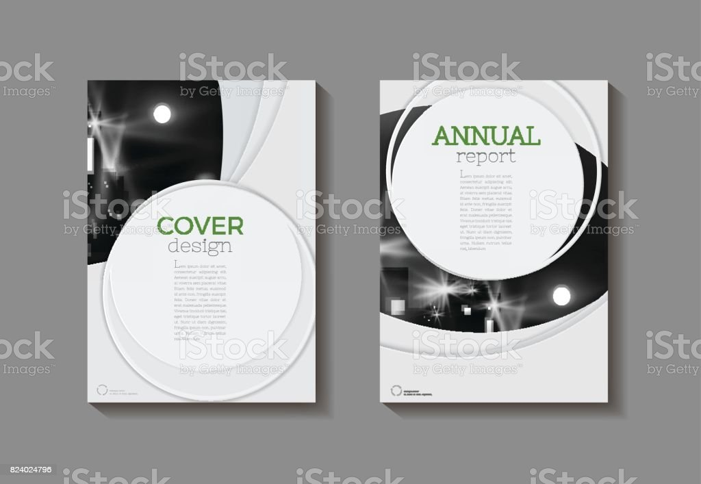 Modern Circle Abstract Green Modern Cover Book Brochure Template
