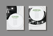 modern Circle abstract green  modern cover book Brochure template, design, annual report, magazine and flyer layout Vector a4