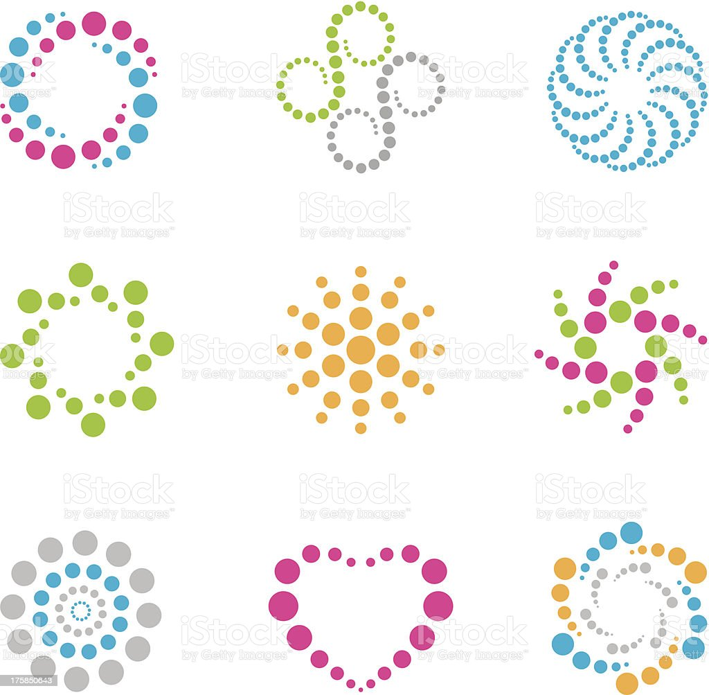Modern circle symbol and icon vector art illustration