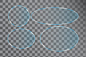 Modern circles plexiglass, great design for any purposes. Glare texture. Vector icon. Stock image. EPS 10.