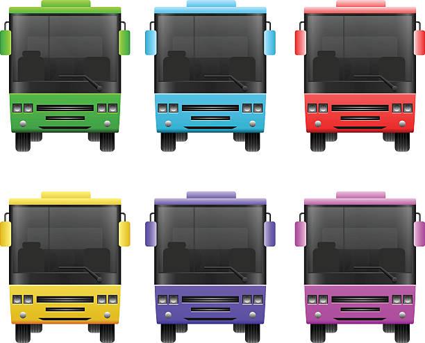 illustrazioni stock, clip art, cartoni animati e icone di tendenza di moderna città autobus - subway