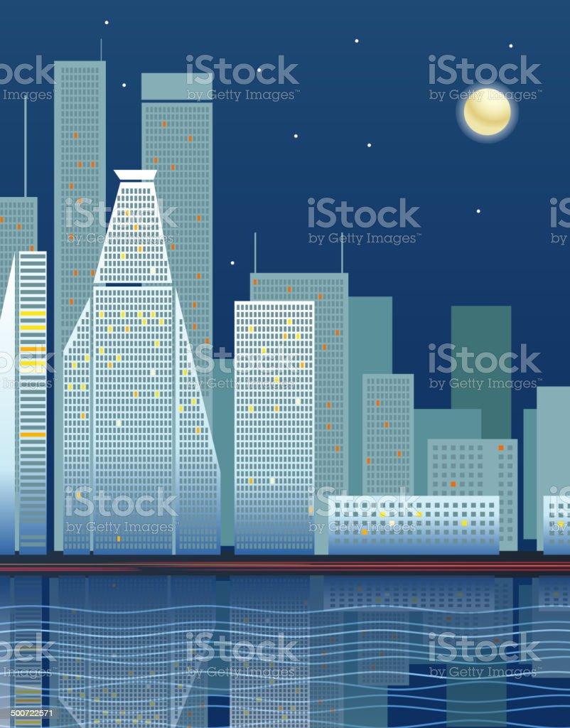 Modern city district vector illustration royalty-free stock vector art