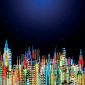 Modern city life abstract conceptual background design.