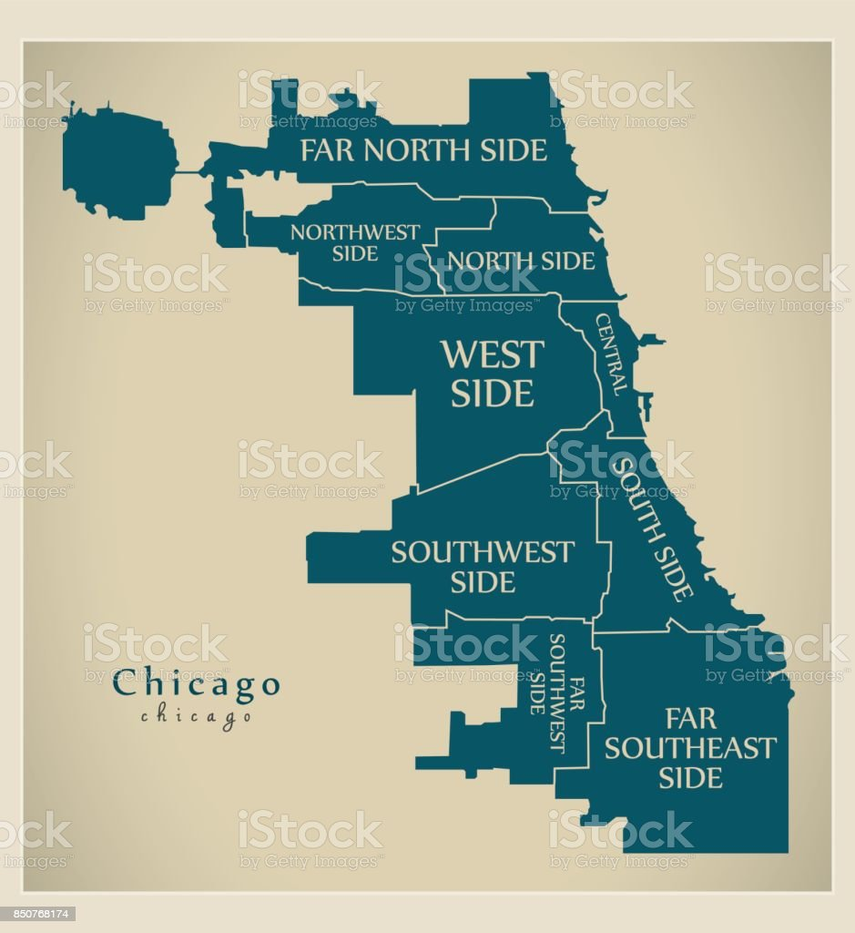 City Map Of Chicago Il on
