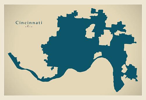Cincinnati S Map on
