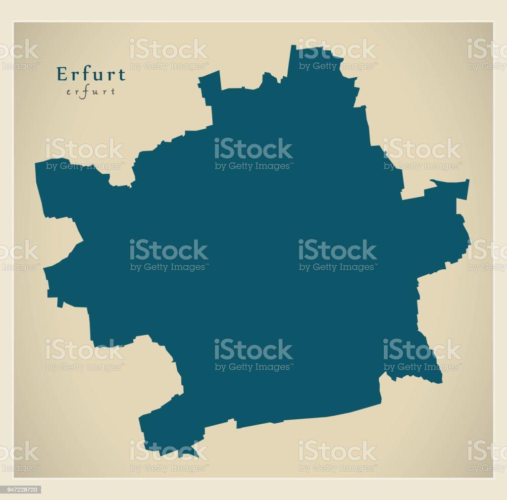 Modern City Map Erfurt City Of Germany De Stock Vector Art More