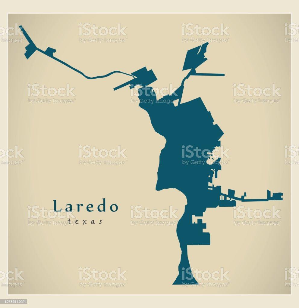Map Of Texas Laredo.Modern City Map Laredo Texas City Of The Usa Stock Illustration