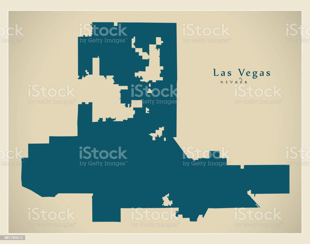 Modern City Map Las Vegas Nevada City Of The Usa Stock Vector Art ...