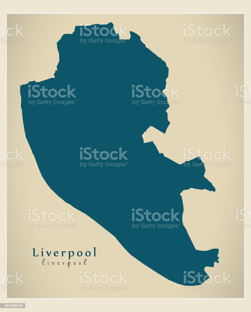 Modern City Map Liverpool City Of England Uk Stock Vector Art & More ...