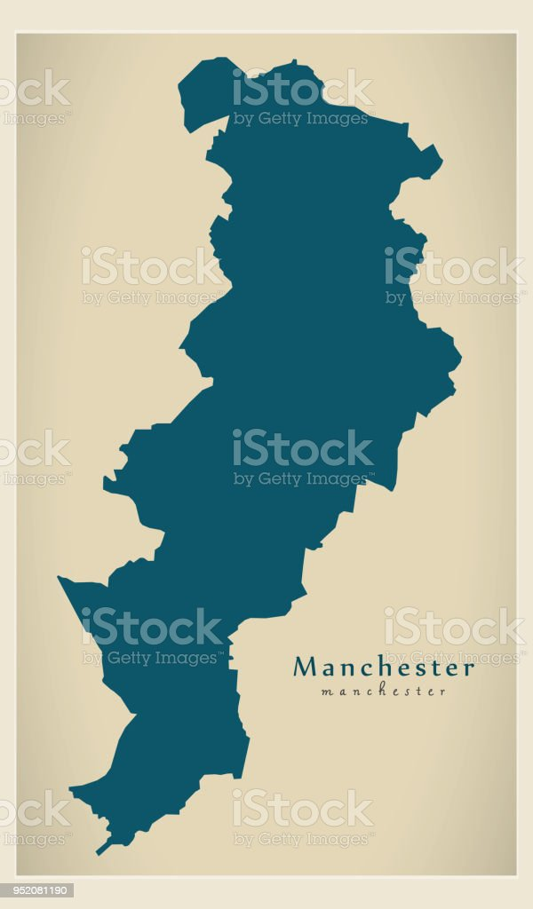 modern city map manchester city of england uk royalty free modern city map manchester
