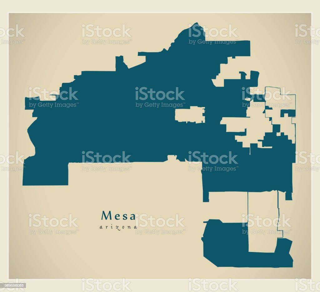 Moderne City Map Mesa Arizona Stadt Der Usa Stock Vr Art und ... on