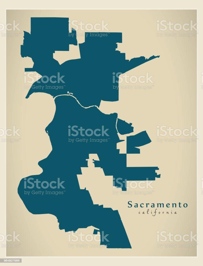 Modern City Map - Sacramento California city of the USA royalty-free modern city map sacramento california city of the usa stock vector art & more images of abstract
