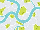 istock Modern City Map 1254242603